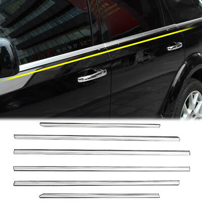 Fit For 2009-2015 Dodge Journey Chrome Window Sill Trim Lining Surround Molding