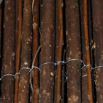 3m Wooden Screening Fencing 1m High Bamboo Reed Brushwood Willow Great Value!