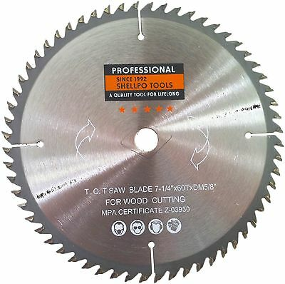 """7 1/4"""" x 60T Heavy Duty Tungsten Carbide Tipped Saw Blades PROFESSIONAL GRADE"""