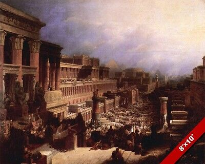 Scene From Ancient Egypt Egyptian Empire Painting Art Real Canvas Print