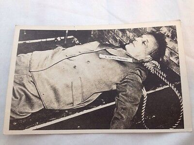 GRAPHIC 1946 Photo WWII - DEAD Executed NAZI A. Seyss-Inquart Nuremberg Trials