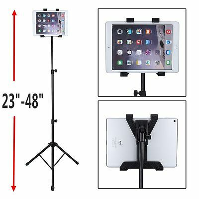 US SHIP Adjustable Tripod Stand Holder Bracket For iPad 1 2 3 Tablet FLOOR MOUNT