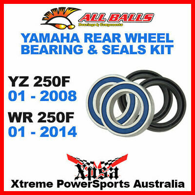 All Balls 25-1252 Rear Wheel Bearing Kit Yamaha Yz 250F 01-2008 Wr 250F 01-2014