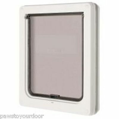 Dog mate 2 way locking medium dog / large cat flap white catflap pet door 215W
