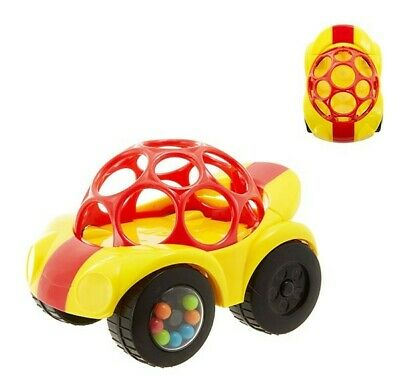 NEW Oball Baby Shaker Rattle & Roll Car - RED - Suitable from 3 mths +