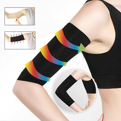 2X Women Slimming Arm Shaper Weight Loss Cellulite Fat Burner Wrap Belt Black