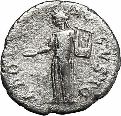 SEPTIMIUS SEVERUS 194AD RARE Silver Ancient Roman Coin APOLLO with lyre i46785