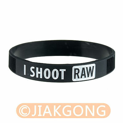 I SHOOT RAW Photography White Silicone bracelet Photographer's Wristband