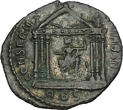 Maxentius Constantine the Great Enemy Ancient  Coin Temple of Roma i46459