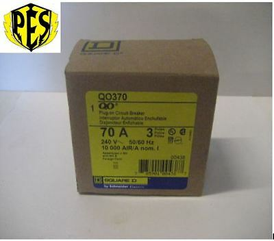New In Box Square D Qo370 3 Phase 3 Pole 70 Amp Qo Breaker ~Best Deal Fits Nq Pa
