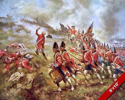 1775 American Revolution Battle Of Bunker Hill Painting Art Real Canvas Print