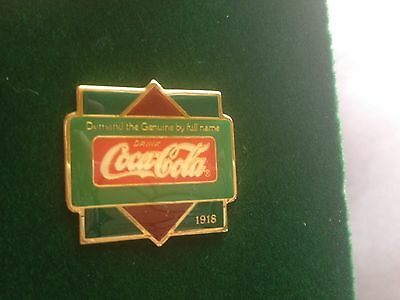 Coca-Cola Pin Centennial Collection RETIRED 1918 Demand the Genuine By Full Name