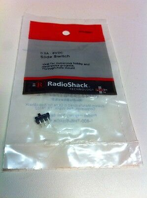 0.3A • 6VDC Slide Switch #275-0007 By Radioshack
