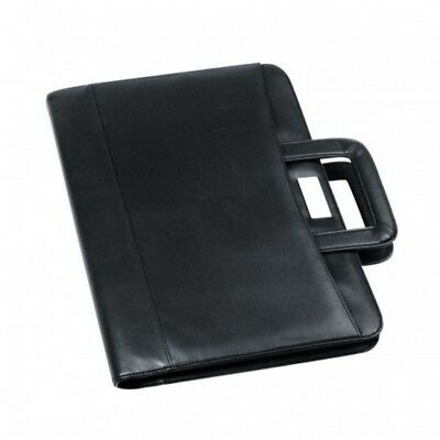 1 x New A4 Koskin Leather Look A4 Zippered Compendium with pull out handles