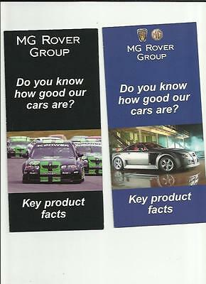 2 x ROVER AND MG ROVER RANGE SALES BROCHURES 2003