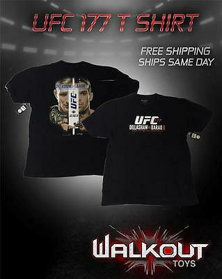 Ufc 177 Brand New Authentic T-Shirt Nwt - Barao Vs Dillashow Ii - Very Rare