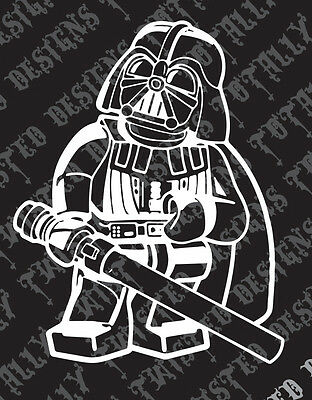 Star Wars Darth Vader car truck vinyl decal sticker empire lego darthvader jedi