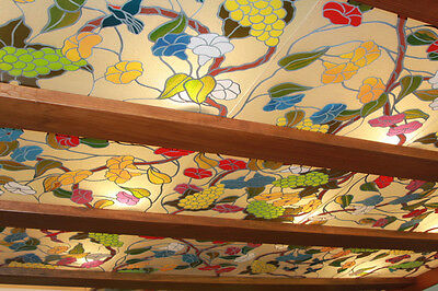 Stained Glass CEILING Stained Glass Overlay 25 panels approx 2ft x 2ft each
