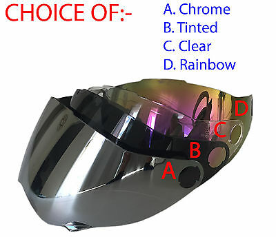 1 VISOR FOR Dual sport helmet dual purpose helmet  CHOICE- CHROME, TINTED, CLEAR