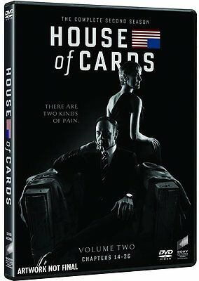 HOUSE OF CARDS - STAGIONE 2 (4 DVD) COFANETTO SERIE TV con Kevin Spacey