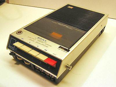 "Sony TC-110 Portable Cassette Tape Player Machine from the 70's    ""AS IS"""