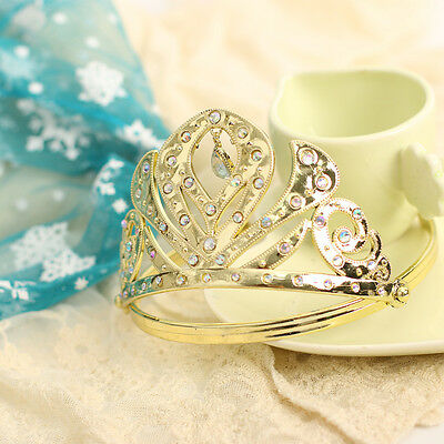 2015 Baby Girls Princess Queen Party Fancy Gold Tiara Crown Head Accessory Set