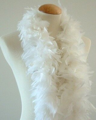 White 45 Grams Chandelle Feather Boa Dance Party Halloween Costume