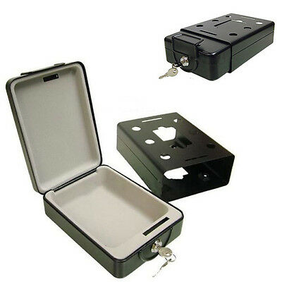 High Security Portable Safe Travel Deposit Cash Box Solid Steel & 2 Keys New