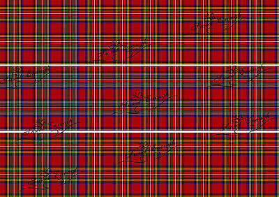 Tartan check Cake topper Ribbon Strips Icing Birthday Edible Edge Wedding