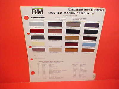 1979 LINCOLN CONTINENTAL TOWN CAR MARK V COLLECTOR SERIES VERSAILLES PAINT CHIPS
