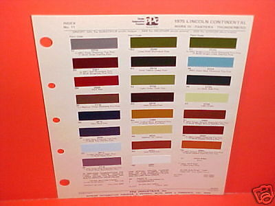 1975 LINCOLN CONTINENTAL MARK IV TOWN CAR FORD THUNDERBIRD PANTERA PAINT CHIPS