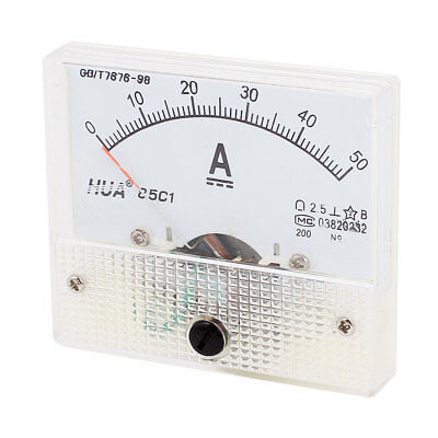 85C1 DC 1-50A Class 2.5 Accuracy Panel Mounted Analog Ammeter Ampere Meter