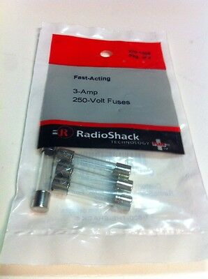 Fast-Acting 3-Amp 250-Volt Fuses #270-1009 By RadioShack