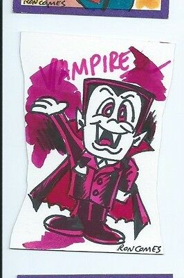 2014 Wacky Packages sketch card Ron Comes (d)