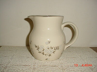 "NEWCOR ""CANDLELIGHT"" SERVING 6"" PITCHER/STONEWARE/JAPAN/STAMPED/CREAM-GRAY-WHT"