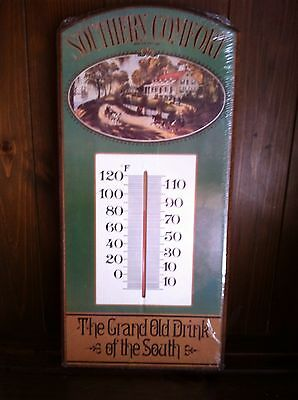 Large 15 Inch Southern Comfort Wood Thermometer Sign New Sealed