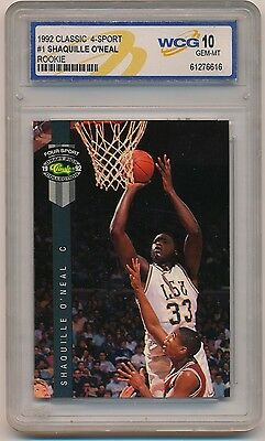 1992 Classic Four Sport #1 Shaquille O'Neal_RC_Rookie Card_Graded GEM MINT 10