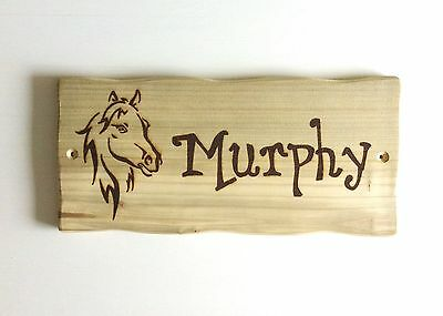 Driftwood Style Personalised Pony Horse Stable Door Livery Name Sign Plaque