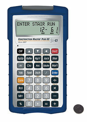 Calc. Ind. Construction Master Plus EZ Calculator 4067 with Spare CR2025 Battery