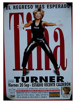 Tina Turner 1996 Madrid Spain concert GIANT POSTER 20 september 1996