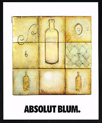 1991 Absolut Vodka Eric Blum Art Vintage Magazine Print Ad