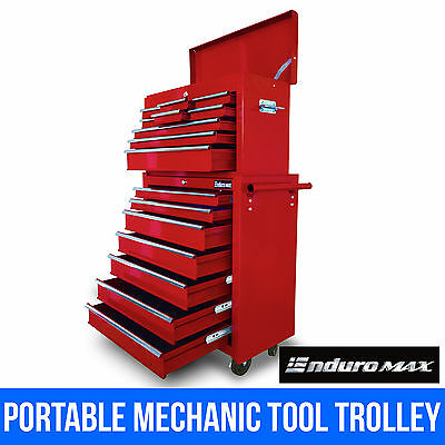 16 Drawer Mechanic Tool Trolley Storage Box Toolbox Chest Cabinet Roller Wheel