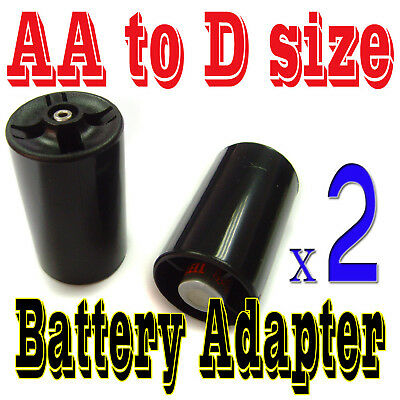 2 x Battery Adapter Converter Case Holder for AA to D