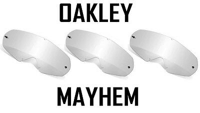 Oakley Mayhem Replacement Motocross Enduro Goggle Lenses Clear X 3