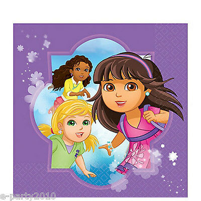 DORA THE EXPLORER AND FRIENDS LUNCH NAPKINS (16) ~ Birthday Party Supplies Large