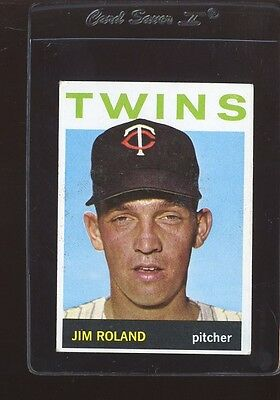 1964 TOPPS #341 JIM ROLAND VG CREASE WAX FRONT *146258