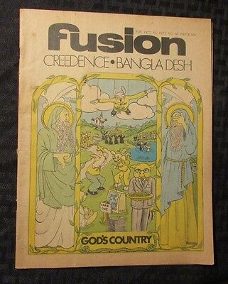 1971 FUSION #64 Music Culture Newspaper VG Creedence Clearwater Revival CCR