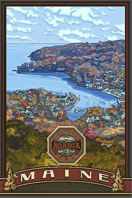 Retro Poster-Acadia NP-Bar Harbor (PAL-4668)