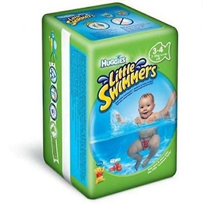 Baby Count 12 Huggies Little Swimmers Disposable Swim Diapers Small Characters