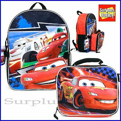 """Cars Backpack  Cars 16"""" Large Backpack With Detachable Lunch  Bag Book Bag"""